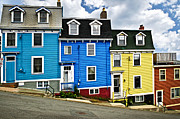Canada Prints - Colorful houses in St. Johns Newfoundland Print by Elena Elisseeva