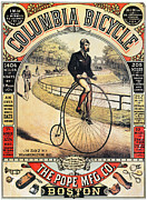 Penny Farthing Photos - Columbia Bicycles Poster by Granger