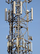 Technological Communication Prints - Communication Mast Print by Adrian Bicker