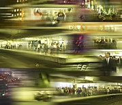 Crowds  Prints - Commuter Crowds Print by Mehau Kulyk