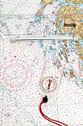 Nautical Chart Photos - Compass Rose by Photo Researchers