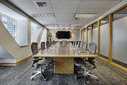 Office Space Prints - Conference Table and Chairs Print by Andersen Ross
