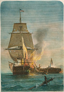 War 1812 Prints - Constitution And Guerriere Print by Granger