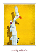 Wine Paintings - Cooking with wine... by Will Bullas
