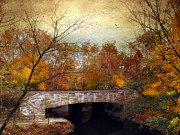 Walkway Digital Art - Country Bridge by Jessica Jenney