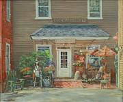 Antiques Paintings - Country Mischief by Sharon Jordan Bahosh