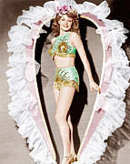 Fringes Framed Prints - Cover Girl, Rita Hayworth, 1944 Framed Print by Everett