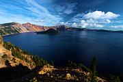 Crater Lake National Park Prints - Crater Lake Blues Print by Adam Jewell