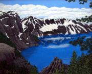 Crater Lake Paintings - Crater Lake by Frederic Kohli