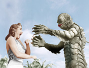 1950s Movies Metal Prints - Creature From The Black Lagoon Metal Print by Everett