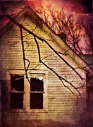 Haunted House Posters - Creepy Abandoned House Poster by Jill Battaglia