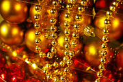 Colorful Beads Posters - Crhistmas Decorations Poster by Carlos Caetano