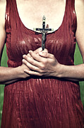 Submissive Metal Prints - Crucifix Metal Print by Joana Kruse