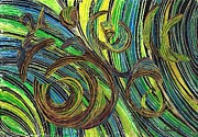 Home Decor Mixed Media - Curved Lines 4 by Sarah Loft