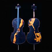 Realistic Art Pyrography - Custom Gliga Cello by Dino Muradian