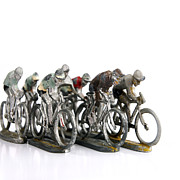 Toys Prints - Cyclists Print by Bernard Jaubert