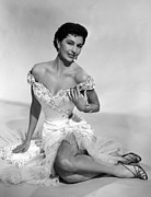 Off The Shoulder Framed Prints - Cyd Charisse, Ca. 1950s Framed Print by Everett
