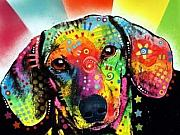Dachshund  Art Mixed Media - Dachshund by Dean Russo