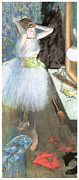 Dressing Room Painting Prints - Dancer in her Dressing Room Print by Edgar Degas