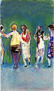 Ballroom Paintings - Dancers by Bill Collins