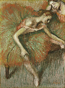 Pastel Paintings - Dancers by Edgar Degas