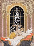 Lesbians Framed Prints - Dangerous Liaisons Framed Print by Georges Barbier