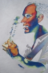 Colorful Tapestries Textiles Originals - Dave Matthews by Joshua Morton