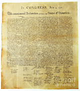July 4th 1776 Framed Prints - Declaration Of Independence Framed Print by Photo Researchers, Inc.