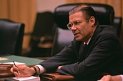 Cabinet Room Prints - Defense Secretary Robert Mcnamara Print by Everett