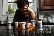 Addicted Posters - Depression And Addiction Poster by Photo Researchers, Inc.