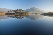 Y120831 Art - Derryclare Lough At Dawn, Connemara, Ireland by Ben Pipe Photography