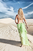 Sand Hill Photo Posters - Desert woman Poster by MotHaiBaPhoto Prints