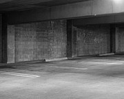 Fine Art Photograph Art - Design and Architecture of a Concrete Parking Garage with Ramps  by ELITE IMAGE photography By Chad McDermott