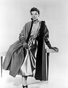Shirtdress Framed Prints - Desk Set, Katharine Hepburn, 1957 Framed Print by Everett