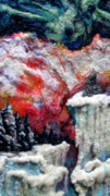Winter-landscape Tapestries - Textiles Prints - Detail of Winter Print by Kimberly Simon