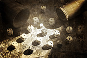 Win Metal Prints - Dice Metal Print by Joana Kruse