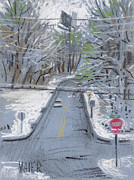 Snow Pastels Originals - Dickson Road II by Donald Maier