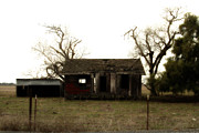 Old Country Roads Metal Prints - Dilapidated Old Farm House . 7D10341 Metal Print by Wingsdomain Art and Photography