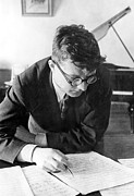 Grand Piano Prints - Dimitri Shostakovich,  Russian Composer Print by Everett