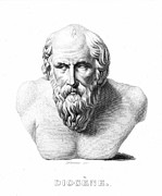 Statue Portrait Photo Prints - DIOGENES (d. c320 B.C.) Print by Granger