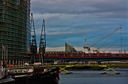 London Skyline Art - Docklands by Dawn OConnor