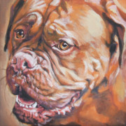 Mastiff Puppy Framed Prints - Dogue de Bordeaux Framed Print by Lee Ann Shepard