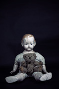 Conceptual Art - Doll And Bear by Joana Kruse