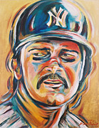 New York Yankees Paintings - Don Mattingly by Redlime Art