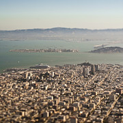Miniatures Photos - Downtown San Francisco by Eddy Joaquim