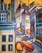 City Scape Paintings - Downtown by Steven Holder