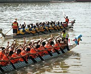 Unity Art - Dragon Boat Races on the Love River in Taiwan by Yali Shi
