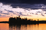 Sunset Prints - Dramatic sunset at lake Print by Elena Elisseeva