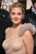 Stud Earrings Prints - Drew Barrymore Wearing An Atelier Print by Everett