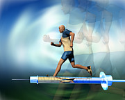 Male Athletics  Prints - Drugs In Sport Print by Victor Habbick Visions